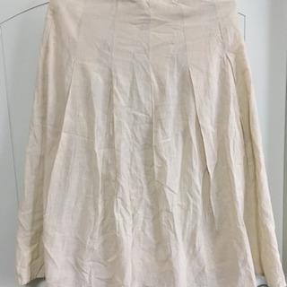春夏物   シワ加工のフレアスカート  Mサイズ  日本製