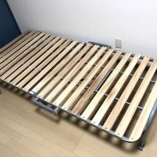 折りたたみすのこベッド【値下げ可】