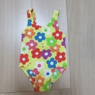 女児 水着(80cm・花柄)