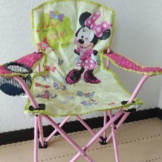 ミニーマウス  椅子 ケース付き
