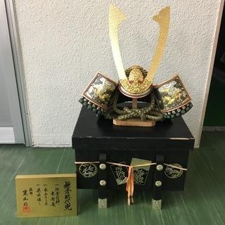 五月人形 寛山作 兜 カブト 外箱有 高さ約40cm 幅約38cm