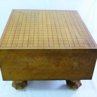 値下げ 脚付碁盤 5寸9分 天柾 42.1×45.4×30.7c...