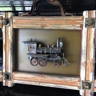 素敵なブリキ機関車の立体額飾り