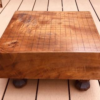 ★囲碁道具 天然木 碁盤+碁石セット