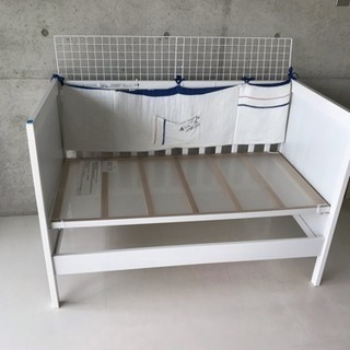 IKEA イケア ベビーベッド ホワイト SUNDVIK