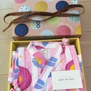 【値下げ】新品未使用 箱付き アプレレクールの甚平(女の子用ベビー服)
