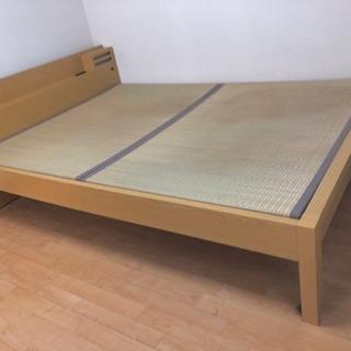 値下げ可能 畳ベッド ダブルベッド コンセント、ライト付き