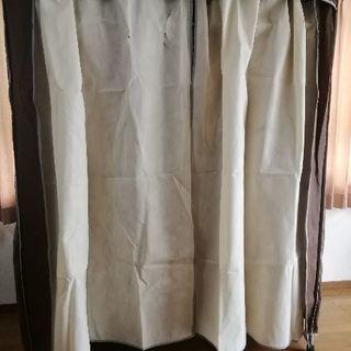 カバー付き衣装ケース ハンガーラック ワードローブ