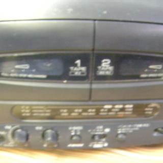 値下げしました 希少 レア SHARP QT-C150-B コンパクト ディスク ステレオ ダブル カセット - 安城市