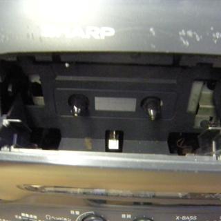 値下げしました 希少 レア SHARP QT-C150-B コンパクト ディスク ステレオ ダブル カセット - 売ります・あげます