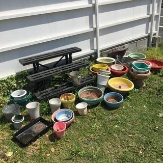 鉢、花台などもろもろ