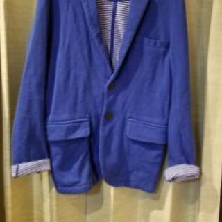 鮮やかなブルーのテーラードジャケット☆サイズM☆