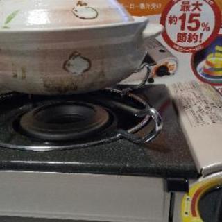 カセットコンロ、鍋セット