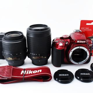 Nikon D5300 ダブルズームセット レッド★極上美品★スマ...