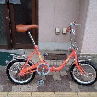 美品☆ARUN[アラン]16吋 折り畳み自転車 (オレンジ)