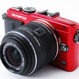 OLYMPUS Pen Lite E-PL6 レッド レンズキット...