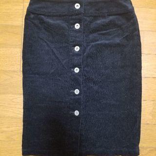 美品■BLACK by moussy■タイトスカート S ブラック