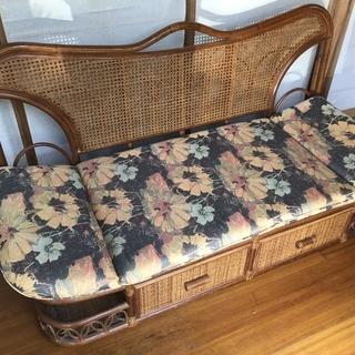 籐製 長椅子
