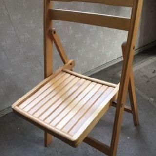 木製椅子 折りたたみ式 2脚