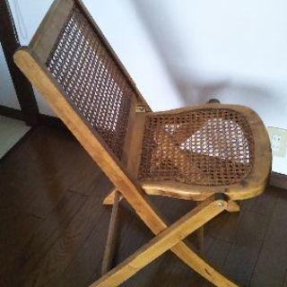 アンティーク折りたたみ椅子
