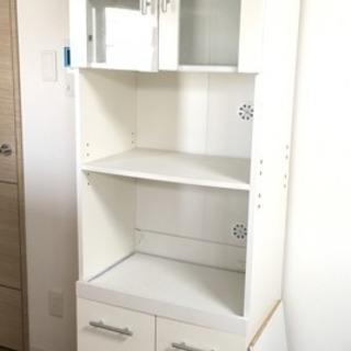 【引き取り待ち】ニトリ 食器棚 レンジ台 ホワイト