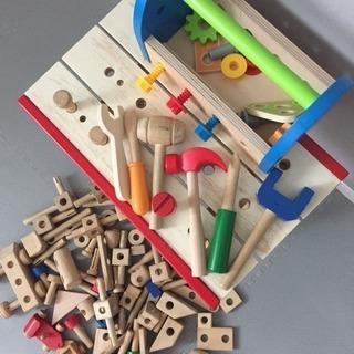 取引中 木のおもちゃ 工具セット