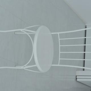家具、イス、白、鉄製、ガーデニング用品としても!