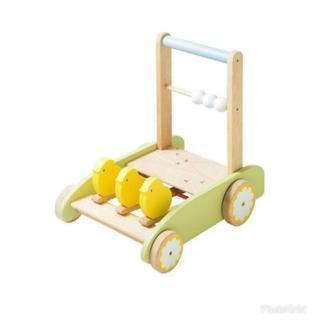 木製 手押し車のおもちゃ
