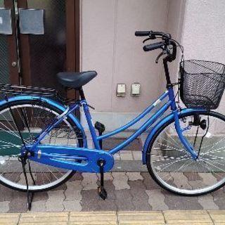 美品☆CLOVE 26吋ファミリーサイクル 変速なし/ブルー
