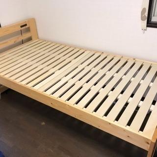 コンセント2口付きすのこベッド
