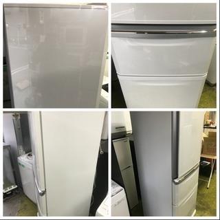 冷蔵庫 三菱 2018年 3ドア 335L ファミリーサイズ 家族用 MR-C34C-W 美品 川崎区 KK - 売ります・あげます