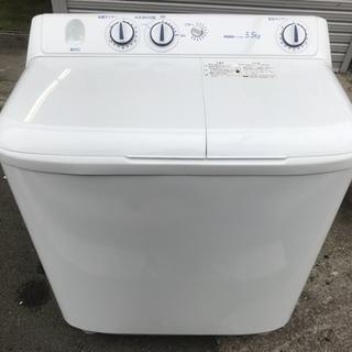 洗濯機 ハイアール 2017年 二槽式 5.5kg洗い J…