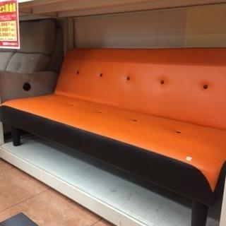 ソファベッド 人気のオレンジ色