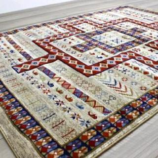 新品未使用 1.5畳 ラグマット ラグ 絨毯 ギャッベ ギャベ