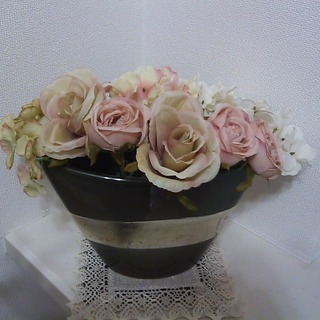アンティーク風花瓶&アレンジ造花♡