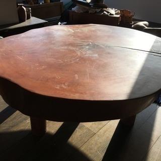 一枚板のテーブル 座卓 円卓