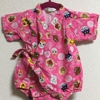 美品  アンパンマン甚平ロンパース  夏祭りに  女の子  70...