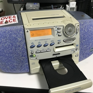 CASIO:カセットラジカセ : MDH-515 MD/CD/