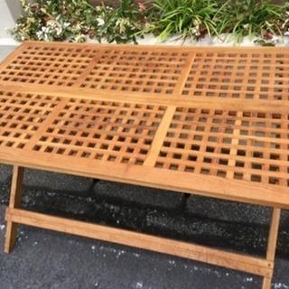 折りたたみ可能 ガーデンテーブル 木製