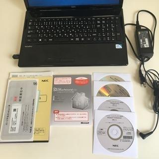 NEC ノートパソコン マイクロソフトオフィス 付属品あり