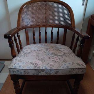カリモク アンティーク家具 1人掛け椅子