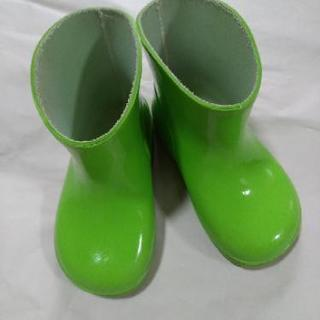 ゴム長靴 13cmライトグリーン 黄緑色 ベビーキッズ レインブーツ