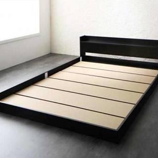 【3-553】ダブルベッド ・棚・コンセント付きフロアベッド ロー...