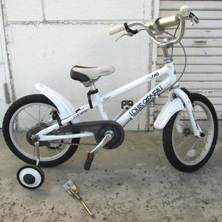 16インチ Jr自転車 LOUIS GARNEAU ホワイト 補...