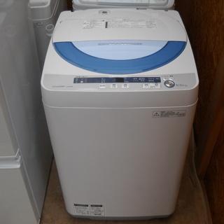 配達設置無料 美品 シャープ 全自動洗濯機 5.5kgES-GE5...