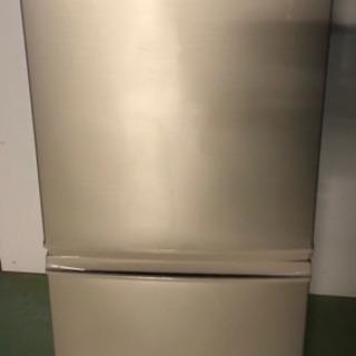 E シャープ ノンフロン冷凍冷蔵庫 SJ-PD14Y-N 2014年製