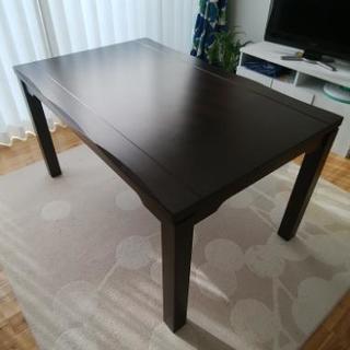 ダイニングテーブル こたつ 回転式椅子4脚 こたつ布団セット