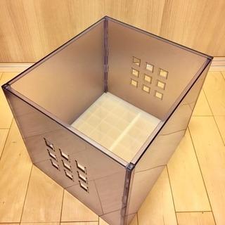 IKEA 収納BOX LEKMAN/ボックス/クリアー 3ケまとめ...
