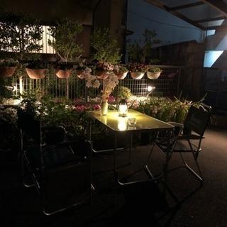 4月29日、庭のお花と夜空を見ながら飲みませんか
