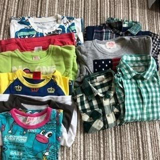 中古 子供服 春服 90〜95 ロンT 薄いトレーナー シャツ